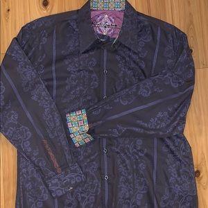 XL Robert Graham long sleeve dress shirt